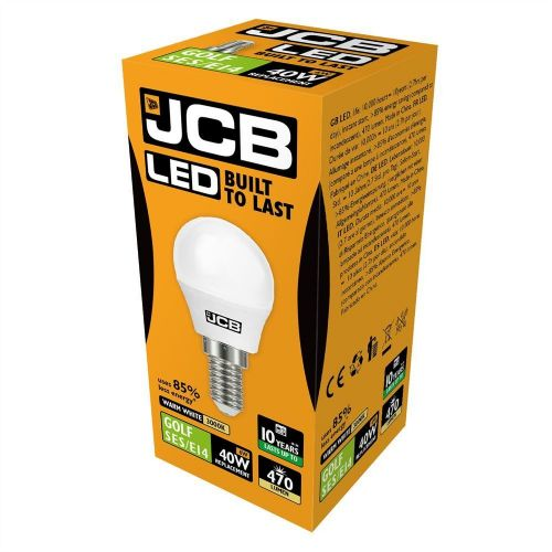 LED Golfball Lightbulb 6W SES Warm White (470 lumens)
